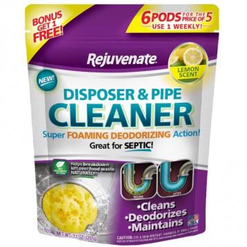 Rejuvenate【垃圾处理器专用】管道清洁剂 6小包装 柠檬香味