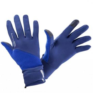 触屏手套【连指分指两用】EVOLUTIV夜跑手套 蓝色 附加连指手套盖