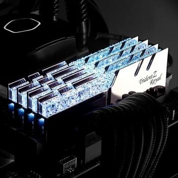 G.SKILL芝奇Trident Z Royal皇家戟系列 RAM 256 GB(8 x 32GB套件)台式机内存条(花耀银)