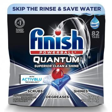 清洁和光泽强力配方【No.1畅销品】Finish Quantum 洗碗机专用清洁剂82枚