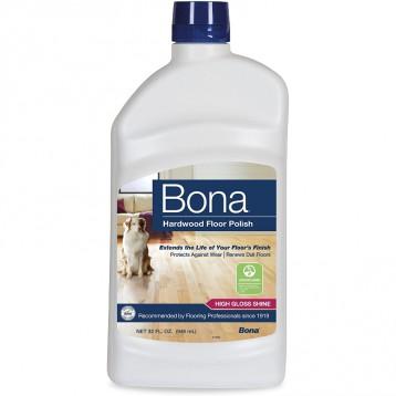 瑞典百年品牌【高光泽型-不打滑】BONA 硬木地板上光保养剂 32盎司(946ml)