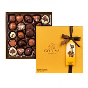 限时¥182.78元!GODIVA 歌帝梵 巧克力金盒290g(24块)